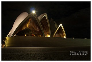 Night front view of  the Sydney Opera House | by Andrea Rapisarda