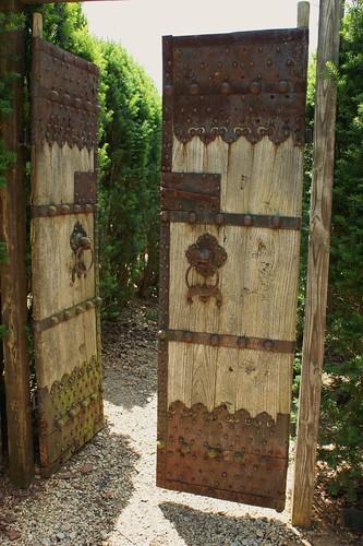 Antique wooden garden gate flickr photo sharing