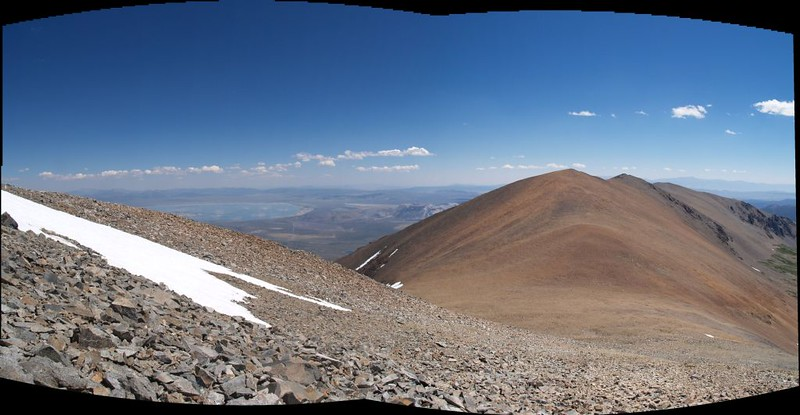 Koip Pass and Parker Peak from the summit of Koip Peak