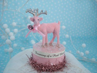 2010 dreaming of a pink christmas flocked deer 1 | by Beach Pom Pom