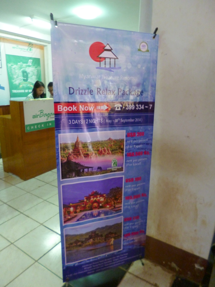 Cheaper tour package to Myanmar during rainy season