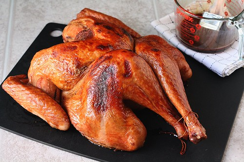 Butterflied Turkey with Cranberry-Molasses Glaze | by Tracey's Culinary Adventures