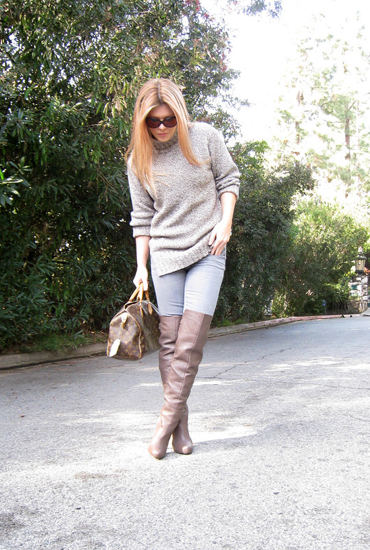 Taupe Pants With Black Shoes