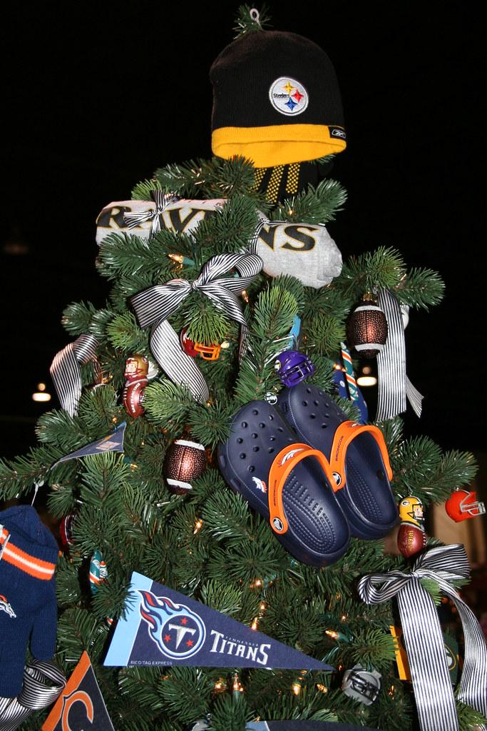 Fun with football sports christmas tree