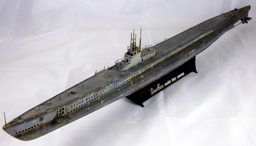 Gato 1:144 Trumpeter submarine model | Weathered with TRUE-E… | Flickr