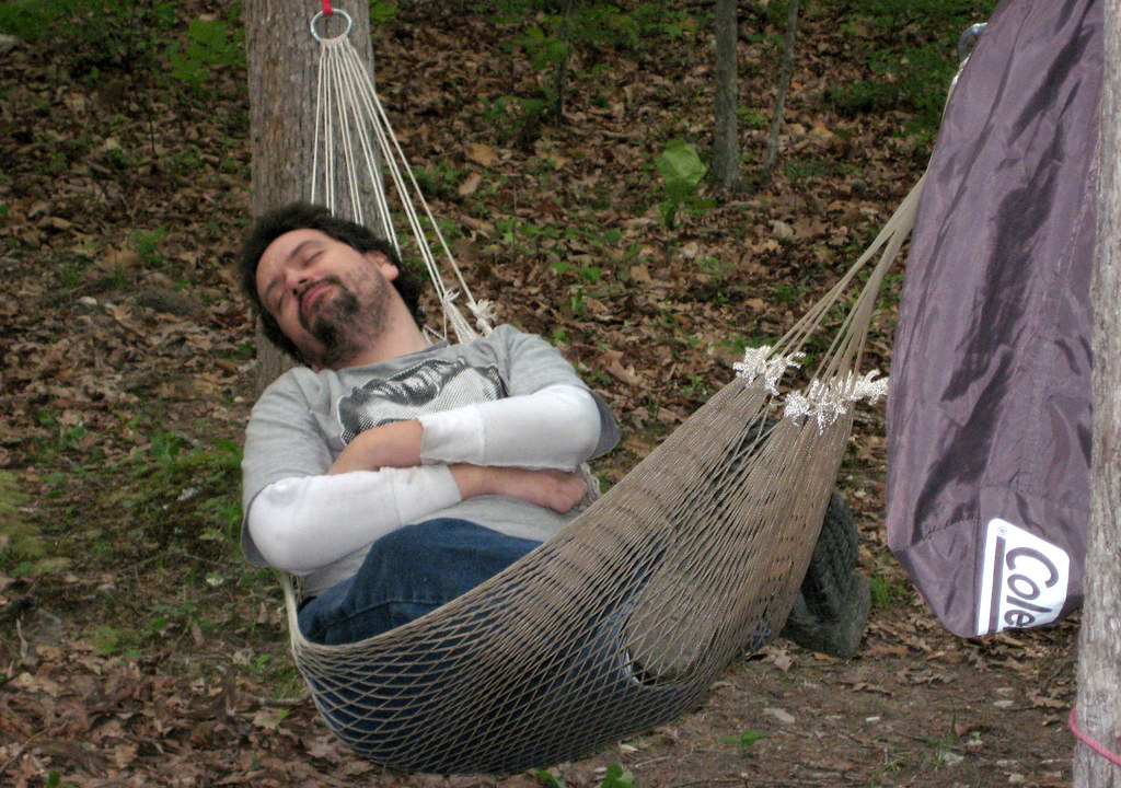 20100508 1906 - camping - Clint - laying in hammock - (by ...