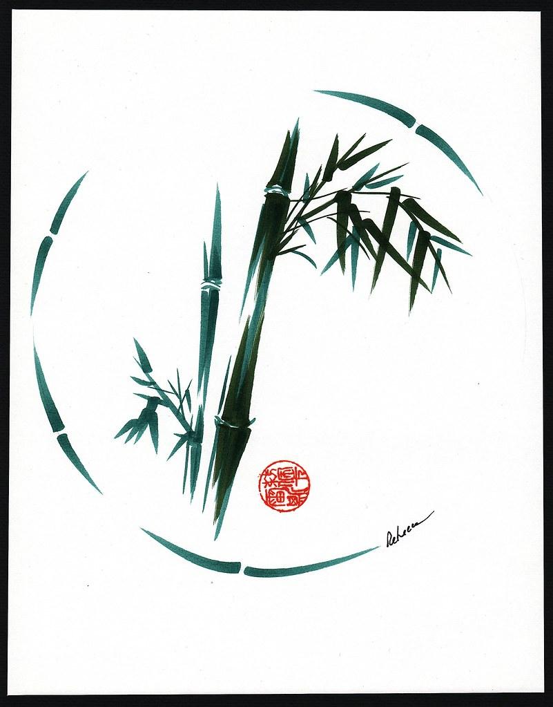 Original Enso Zen Painting Throw Pillows: Dreams - Original Enso Brush Painting