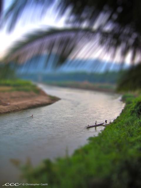 Laos / après-midi sur la rivière nam khan