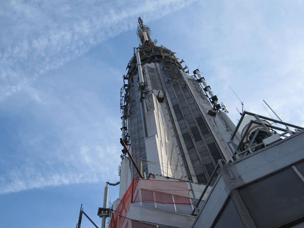 The top of the empire state building i took a shot of for 102nd floor of the empire state building