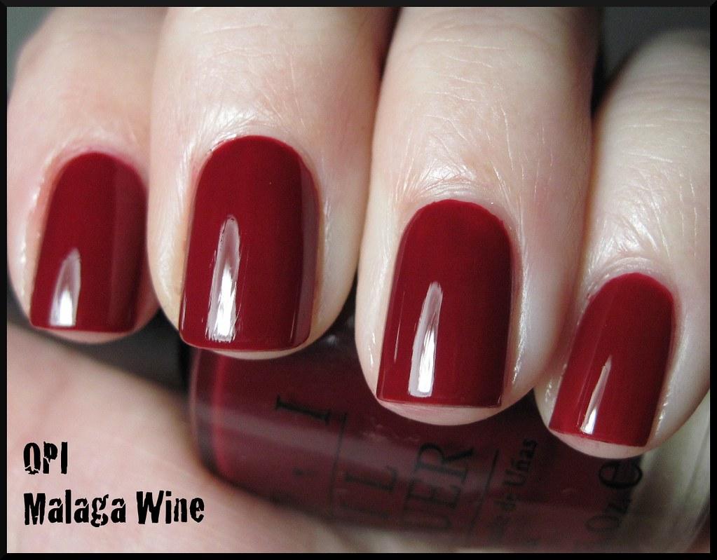Ott Lamp OPI Malaga Wine | 2 coats with SV, under an OTT lamp ...
