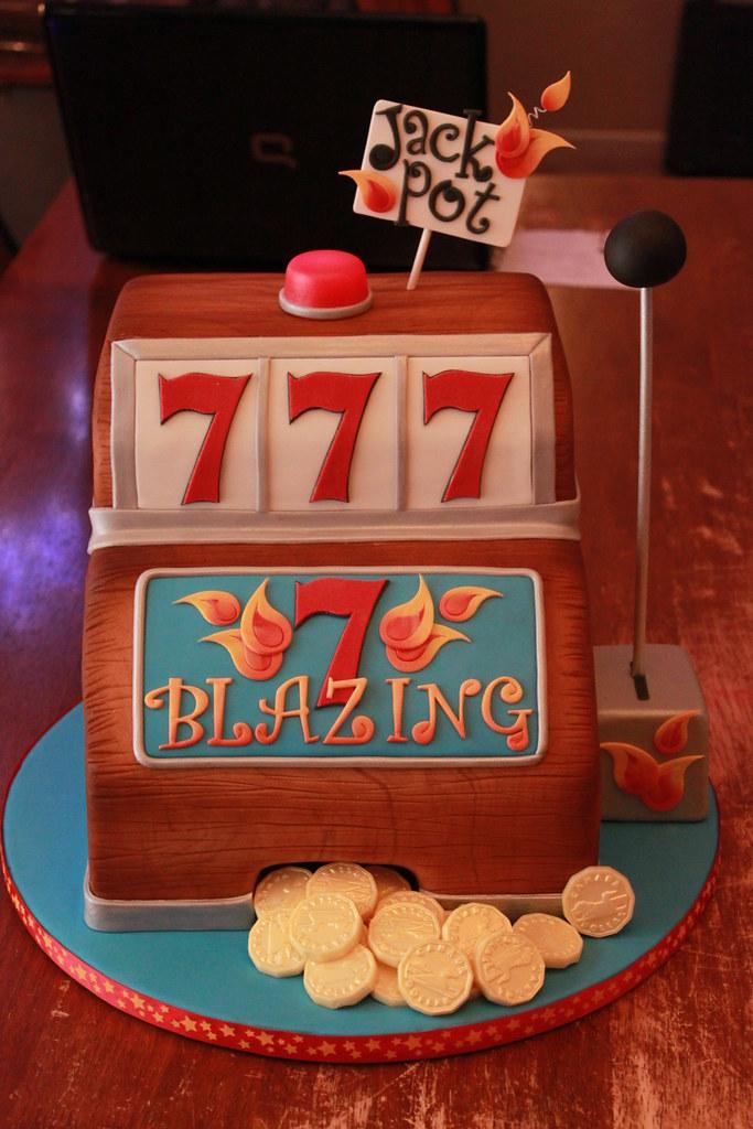 Blazing 7 S Slot Machine Cake All Chocolate Cake With