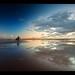 Togs vs Clouds II, Frantic on Crosby beach. Explore