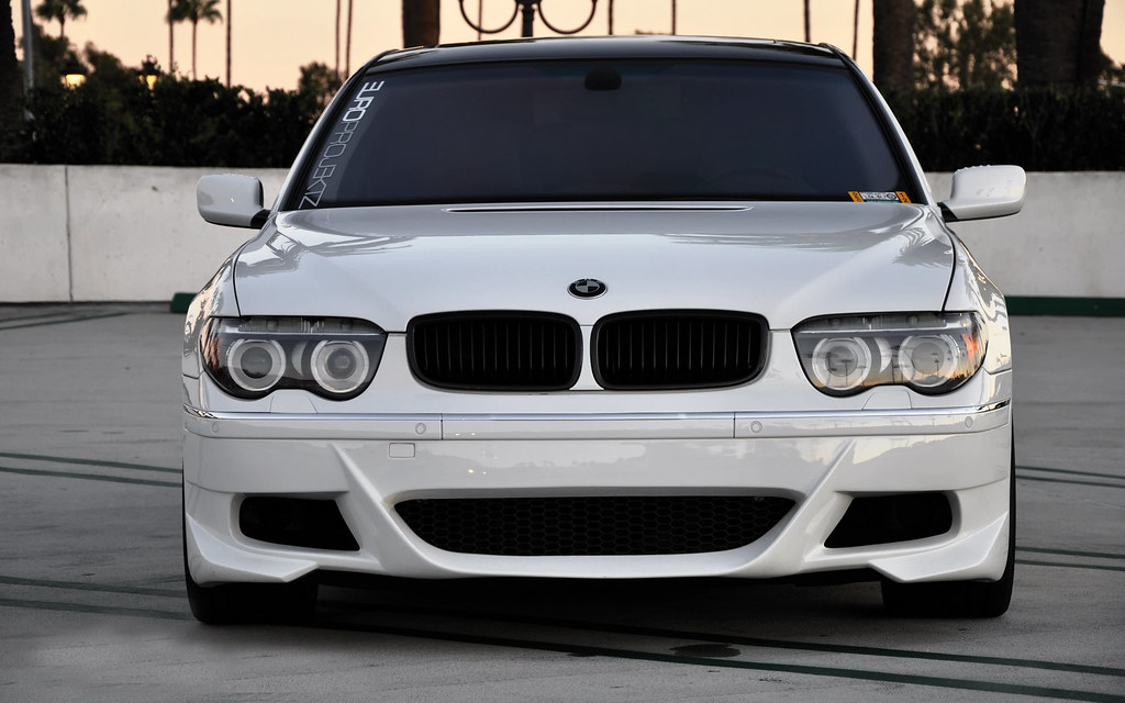 bmw 7 series e65 e66 white with black grills and prior des flickr. Black Bedroom Furniture Sets. Home Design Ideas
