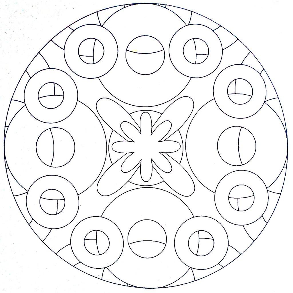 Mandala Coloring Page Circles Moldovancsaba Flickr Mandala Circles Coloring Pages