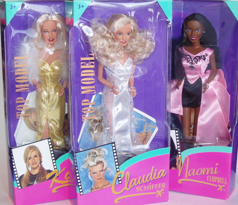 Top Models made by Hasbro. Karen Mulder, Claudia Schiffer ...