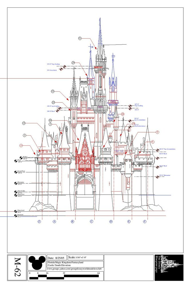 Cinderella S Castle South Elevation I Ve Added Some