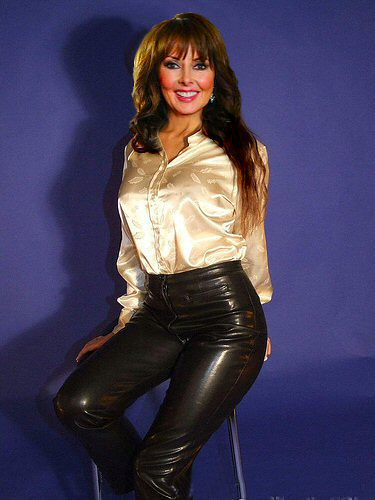 image Fine milf in tight leather pants vtl