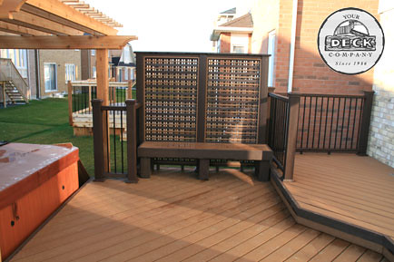 Trex 276 This Trex Deck Was Built Using Trex Saddle