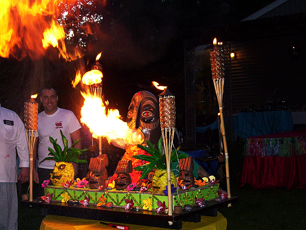 Cake Boss Fire Breathing Tiki Cake By Tony Tone Tone Alb