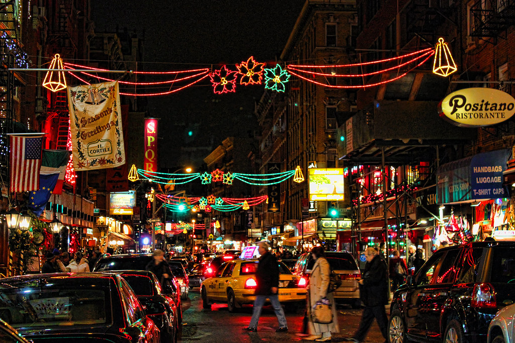 Little Italy At Christmas Time New York City 39 S Little
