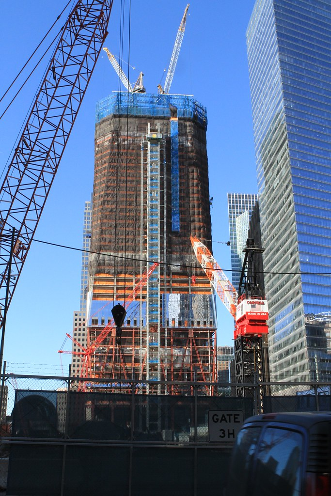 Freedom Tower Construction Progress   As seen on 12.21.10 ...