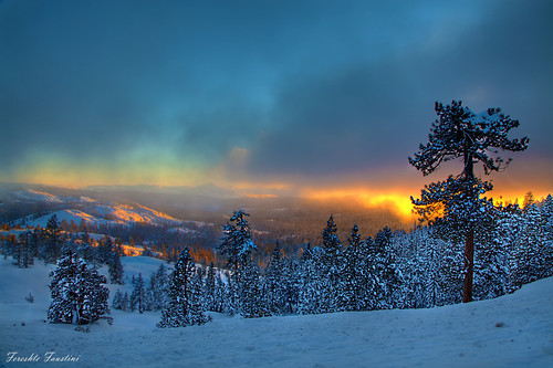 Winter Fiery Sunset - Tahoe | by Fereshte Faustini