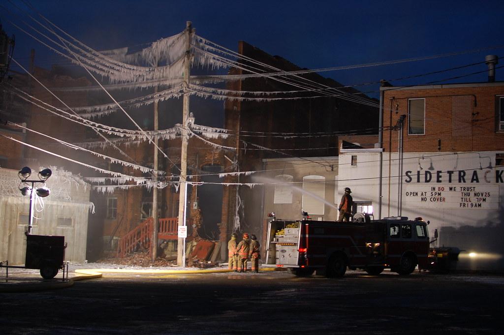 Downtown Fire Lincoln Nebraska Frozen Mess Romantix