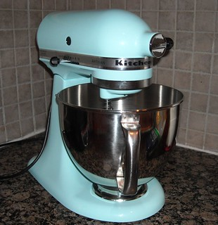 my new Kitchenaid--ice blue | by vickivictoria