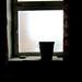 Eimer in Fenster