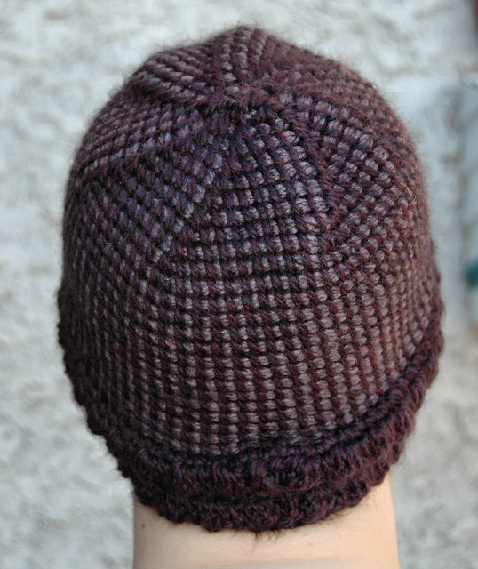 Crochet Patterns In The Round : Tunisian in the Round, Purple Swirl hat Flickr - Photo Sharing!