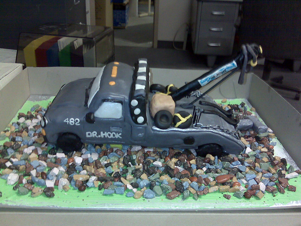 Tow Truck Cake Tow Truck Cake White Caked Iced In