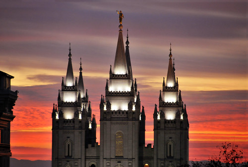 salt lake temple january sunset Beautiful colors 2 | by houstonryan