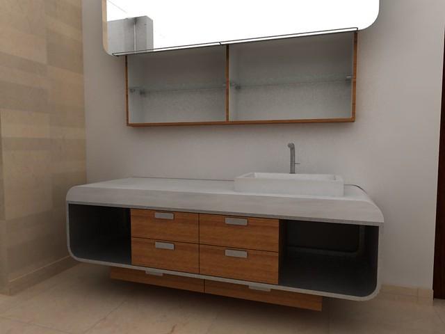 Muebles de ba o mesa para lavabo en acero inoxidable esp - Muebles de lavabo ...