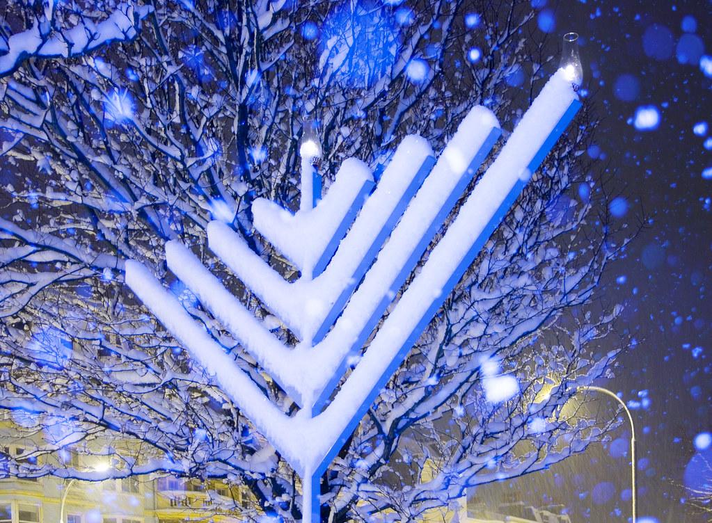 Happy Hanukkah Images >> Happy Chanukah: Snow Covered Chanukah Menorah | (One of a co… | Flickr