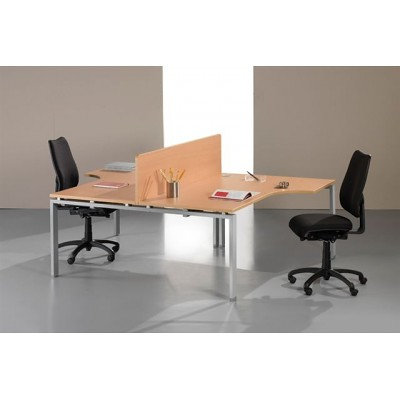 Ergonomic office desk 2 person the astro arche office Desk for two persons