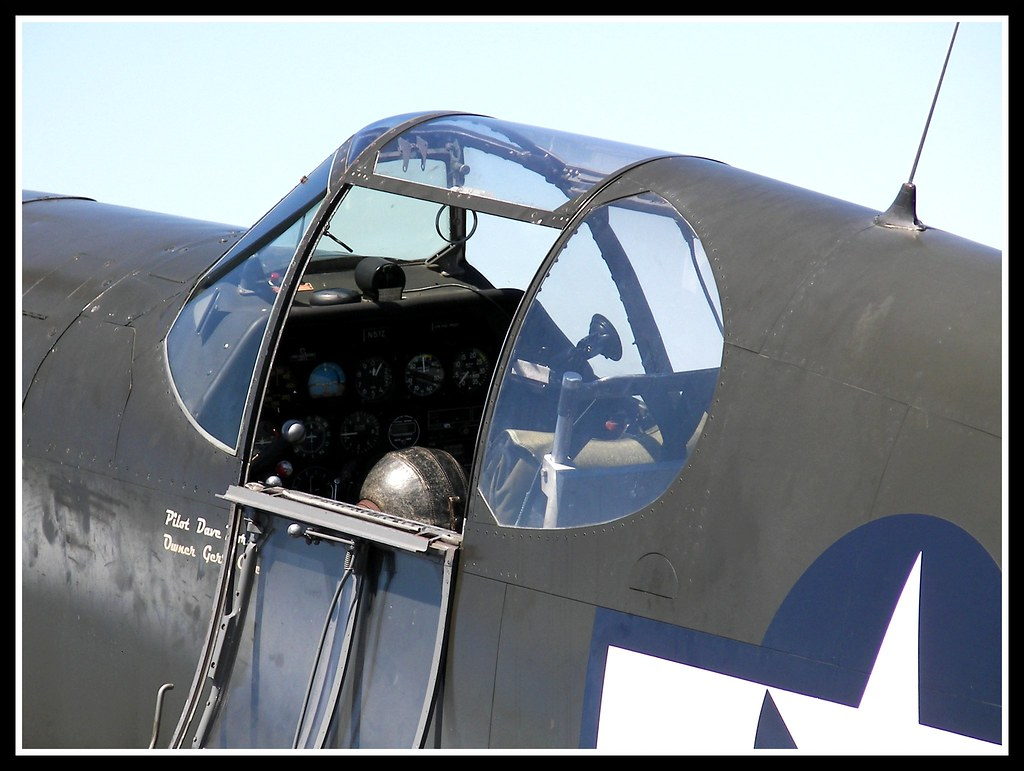 P 51a Mustang Cockpit Cockpit Of An Early Model P 51a