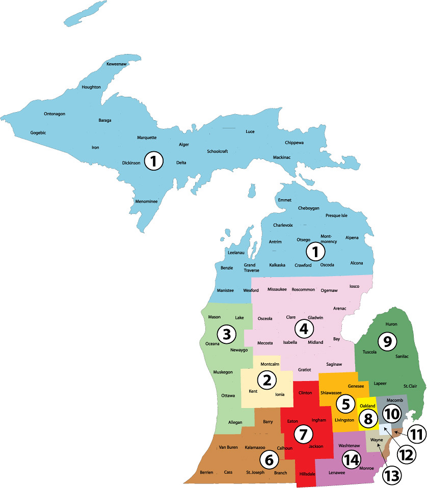 Michigan Congressional Districts 2012 Hypothetical  Flickr