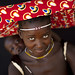 Mucubal mother and baby with ompota on the head - Angola