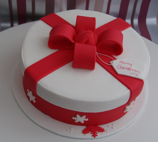 Christmas Present Hat box Cake Flickr - Photo Sharing!
