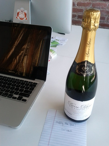 Champagne Peirre Peters.  Zendesk surprise to welcome the new year | by adria.richards