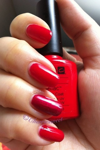 Cnd Shellac Wildfire Diy The Ring Finger Is Red