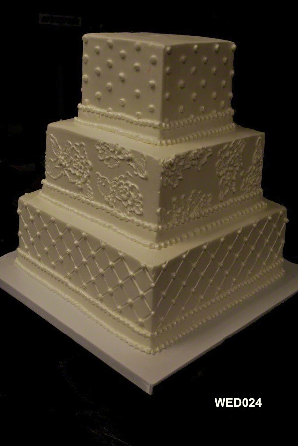 3 tier square wedding cake pans wed024 3 tier square wedding cake with pearls quilting and 10257