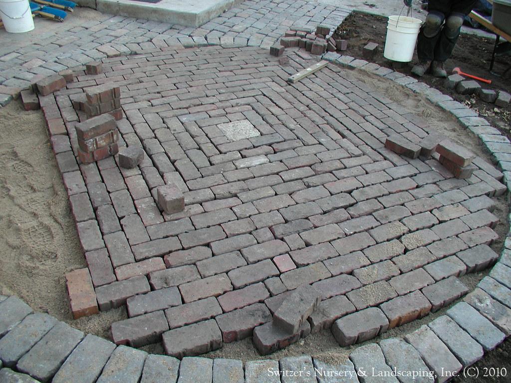 Salvaged Granite Cobble Amp Clay Paver Patio The Irregular