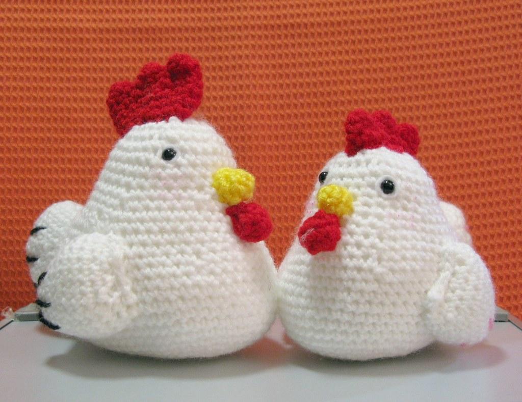 Amigurumi love chicken couple 22 Jan 2011 OrangeZoo ...