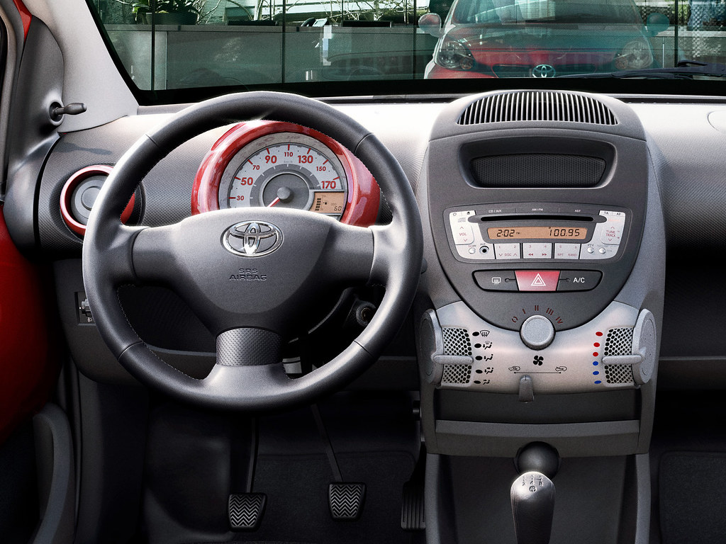 toyota aygo red edition 2010 interior toyota motor europe flickr. Black Bedroom Furniture Sets. Home Design Ideas