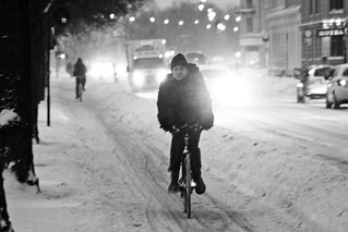Snowstorm Evening - Winter Cycling in Copenhagen | by Mikael Colville-Andersen
