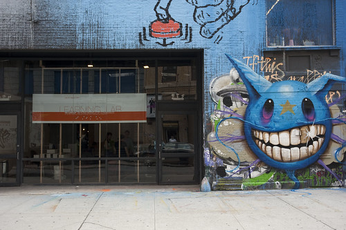 Eyebeam facade - Re:Group signage / Jeff Soto graffiti #2 | by eyebeam