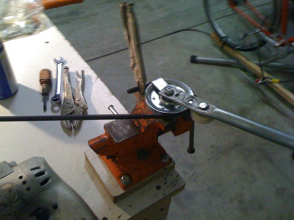 diy bender diy tubing bender i ve improved my home made 1 5 quot radius