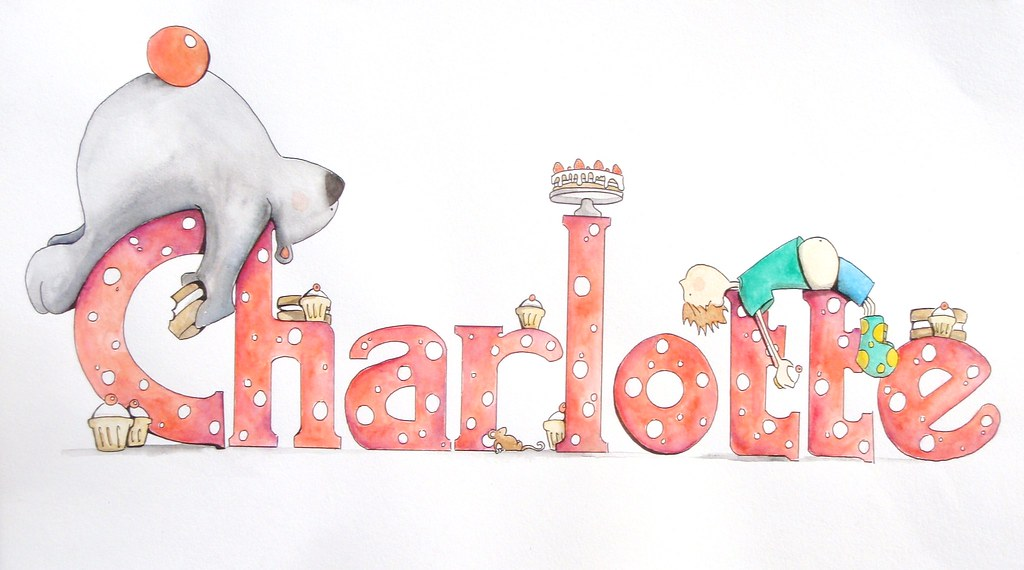 charlotte name painting with H&B | painting for Charlotte ...