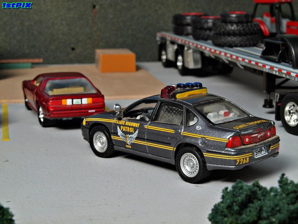 Ohio State Highway Patrol Diecast Diorama Ohio State